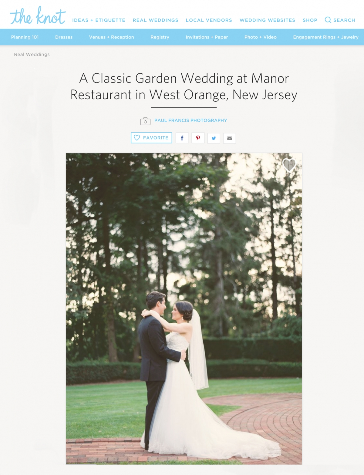 Jillian & Franco Published {The Knot} » Paul Francis Photography